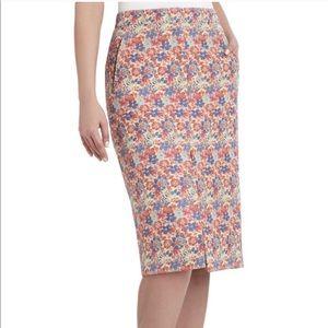 BCBGMaxAzria Liya Floral Pencil Skirt Medium